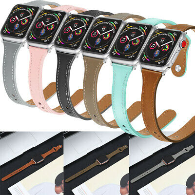 $ CDN14.01 • Buy Genuine Leather Wrist Watch Bands Straps Watchband For Apple Watch Series 54321