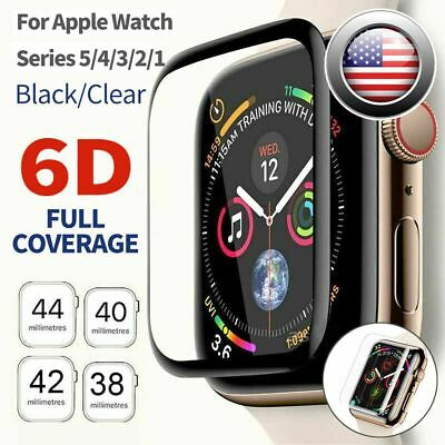$ CDN3.12 • Buy Tempered Glass Screen Protector Full Edge Fit IWatch Apple Watch Series 5 4 3 2