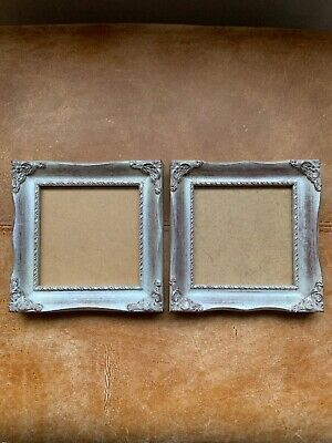 Beautiful Pair Of Silver Gilt Square Photo Picture Frame Swept Rococo Style • 31.49£