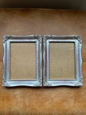 Beautiful Pair Silver Gilt Photo Picture Wall Frame Rococo Baroque Style 5 X 7 • 33.29£