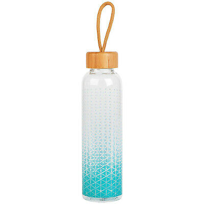 Cambridge 550ml Scope Glass Cold Water Drinking Bottle With Bamboo Lid Handle • 8.95£