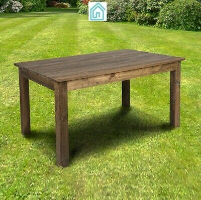 $249.99 • Buy Rustic Modern Dining Table In Brown Color Solid Pine Wood Dining Room Furniture