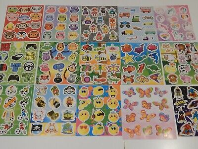 12 Packs Of Childrens Party Bag Stickers Sticker Sheets Fillers! Choose Design! • 2.50£