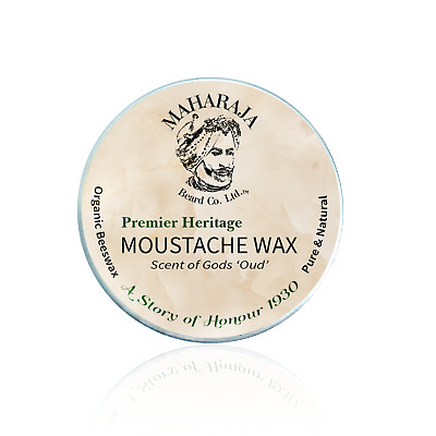 Premium Moustache Wax 'Oud' With Organic Beeswax, Firm Hold, Smooth Finish • 8.50£