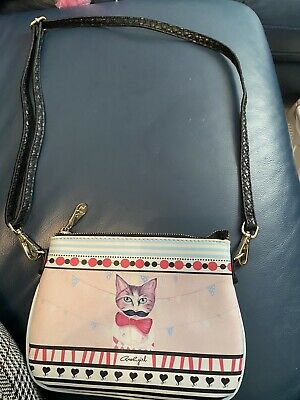 £8 • Buy Axel Girl Bag. Cat With Moustache. Quirky