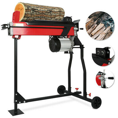 Hydraulic 7 T Log Splitter Electric Heavy Duty Wood Timber Cutter Tool W/Stand • 269.64£