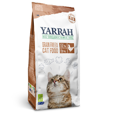 Yarrah Complete Cat Food Organic Kitten Pouches Nutrition Fish Chicken Healthy  • 9.99£