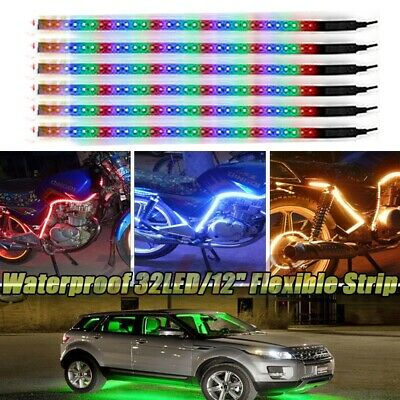 $7.99 • Buy Lots RGB 32LED/12  Flexible Light Strip For Car Boat Truck DRL Waterproof DC12V