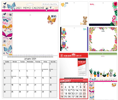 2021 Monthly Memo Board Wall Calendar Family Organiser White Board With Pen  • 3.99£