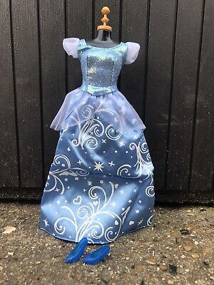 Dolls Blue Cinderella Inspired Dress With Glitter Shoes Included • 4.50£