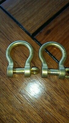 AU25 • Buy Bronze Bow Shackles Pair Nos Swl 75 Cwt Sd 715 Yacht Anchor Davey