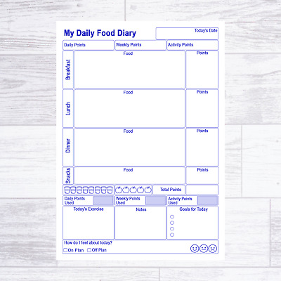 A6 Weight Watchers Ww Compatible Food Diary Pages Diet Planner Weight Loss • 4.75£