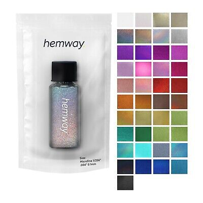 """Glitter Tube Microfine 1/256"""" Hemway Cosmetic Safe Sparkle Dust Nails Art Magpie • 5.99£"""
