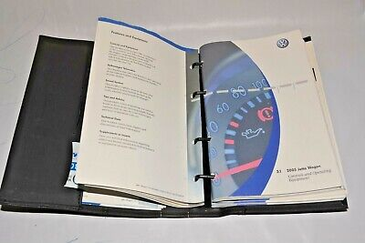 $19.99 • Buy 2005 Volkswagen Jetta Wagon Owners Manual Guide Book Set With Case Oem