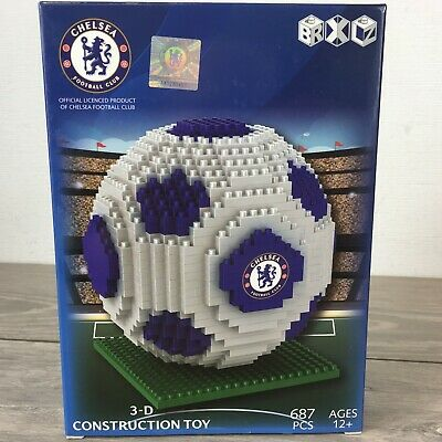 £29.99 • Buy Official Chelsea FC Team 687 Pcs Football Gift Construction Ball 3D Toy