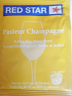 £3.46 • Buy 1 Pack - Red Star Pasteur Champagne / Premier Blanc - Home Brew Wine Making