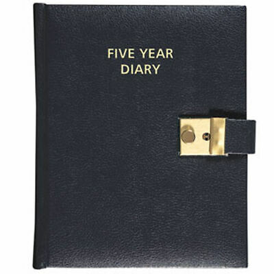 Collins Five (5) Year Diary Undated Lockable A5 Black Padded Cover And Lock • 16.70£