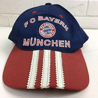 Vintage Adidas FC Bayern München Cap Hat Soccer Football Adult One Size Germany • 10.97£