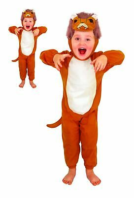 £10.49 • Buy Lion Animal Costume Toddler Zoo Fancy Dress Kids Book Day Cute Dress Up