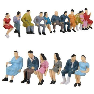 $1.01 • Buy HO Scale 1:87 Painted Model People Figure / Seated Baby Kids New Passenger Q0R9