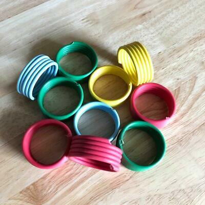 10 X 32mm Extra Large Spiral Leg Rings Bands Poultry Turkey Geese Swan Peafowl • 5.45£
