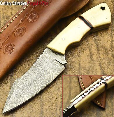 $15.50 • Buy Cutlery Salvation Custom Hand Made Damascus Steel Full Tang Knife | Camel Bone