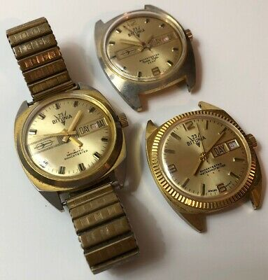 $ CDN384.95 • Buy 3 Vintage Rare Bitunia 23 Automatic Watches For Repair/parts