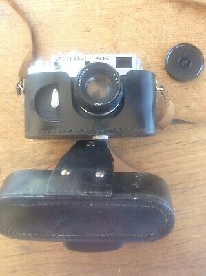 Vintage ZORKI 4K Rangefinder Camera Original Leather Case Jupiter 8 2/ 50mm Lens • 85£