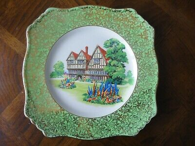 $ CDN69 • Buy Vintage Royal Winton Grimwades  Old English Manor House   Luncheon Plate 9 3/4