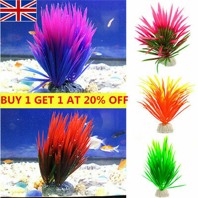 Artificial Fake Fish Tank Plants Aquatic Aquarium Flower Ornament Decoration UK • 1.99£