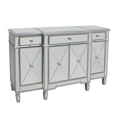 £549.97 • Buy Large Mirrored Sideboard With Crystal Handles - Jade Boutique