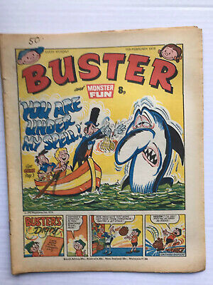 BUSTER AND MONSTER FUN BRITISH COMIC 11TH FEBRUARY 1978 Ex Condition Very Rare • 6.99£