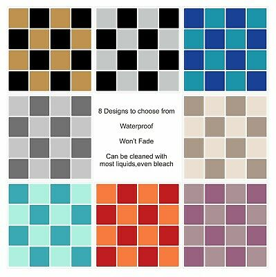 Mosaic Coloured Tile Stickers For 150mm X 150mm / 6  Design ML1 Kitchen/bathroom • 29.99£