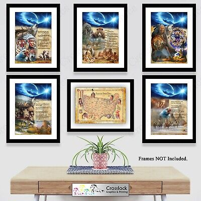 £3.99 • Buy Native American Indian Wisdom Quote Poster Picture Print ONLY A4 Or A3 Prints