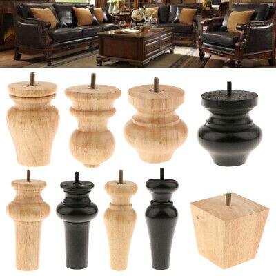 AU31.49 • Buy 4x Wooden Furniture Legs Desk/Sofa /Couch/Lounge/Chair/Bed Leg Support Feet