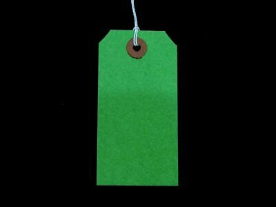 £1.75 • Buy Green Strung Tie On Tags Labels Retail Luggage Tags With String
