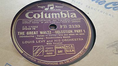Louis Levy The Great Waltz Selection Columbia Fb2133 • 2.99£