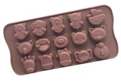Silicone Chocolate Mould Love Animal  Ice Cube Jelly Candle Wax Melt Valentine • 4.29£