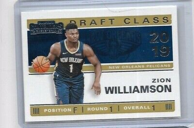 $4.99 • Buy Zion Williamson 2019-20 Panini Contenders Draft Class Rc #1 Pelicans Rookie