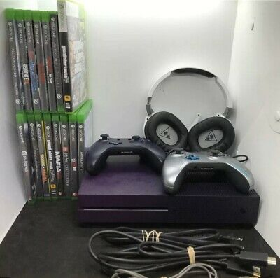 $91 • Buy Xbox One S 1TB Fortnite Battle Royale Special Edition Bundle LOT W 15 Games