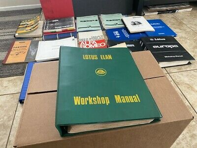 $ CDN224.03 • Buy Lotus Elan Workshop Manual X036T0327ZE English Text - Excellent Used Cond.