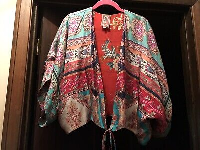 $89.99 • Buy Johnny Was Kimono Style Short Jacket Silk With Rayon Lining, Med, Very Large