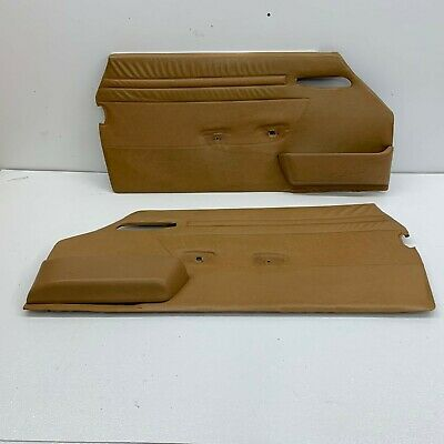 $350 • Buy 1988 Mercedes 107 380SL 560SL Front Door Panel Palomino Card LH RH Set |S4688