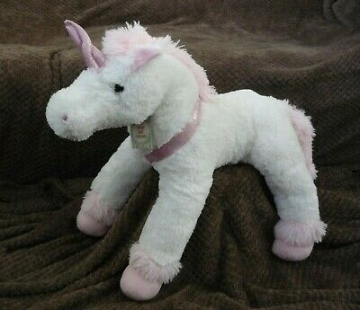 BNWT Large Adorable Very Soft White Unicorn Pink Feet/Horn/Ears Plush Toy 29  • 16.99£
