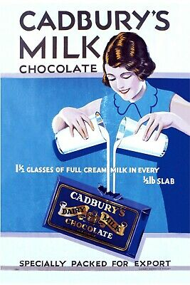 £7.99 • Buy Cadbury's Milk Chocolate Advert Vintage Retro Style Metal Sign Plaque, Kitchen