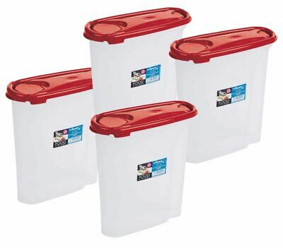 £7.99 • Buy 2.5-5L Cereal Dispenser Store Storage Box Kitchen Lid Foods Rice Pasta Container