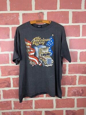 "$ CDN210 • Buy Vintage 80s Truckers Only ""The American Way"" 3D Emblem T-shirt"