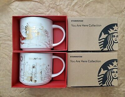 $ CDN121.22 • Buy Starbucks China Shanghai You Are Here Holiday Mug Limited Edition Set Of 2