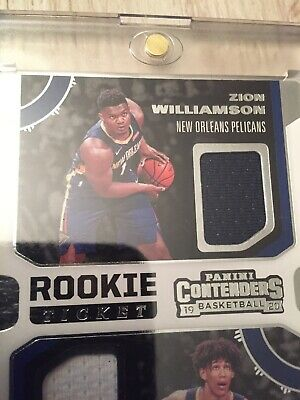 $11.11 • Buy Zion Williamson 2019 Contenders DUAL JERSEY RC ++2 Base RC!!!