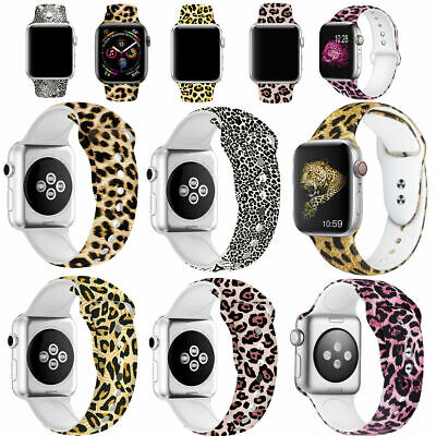 $ CDN11.83 • Buy Leopard Pattern Replacement Bands For Apple Watch Series 5 4 3 2 1 38/40/42/44mm